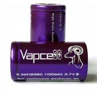 【在庫あり★即納可能】Authentic Vapcell INR 18350 battery 1100mah 9A