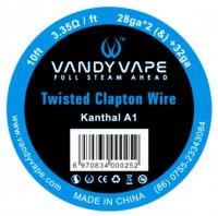 【在庫あり★即納可能】Vandyvape Resistance Wire kanthal/SS316L Twisted Fused Clapton Wire Vape Wires
