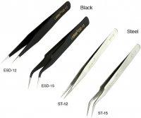 先細 ピンセット ストレート/カーブ★VAPE ビルドにも最適★ビルド ツール★E-cig DIY Multi-functional Cross Lock Tweezers