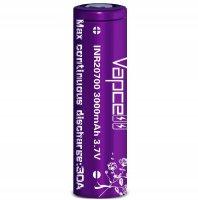 【在庫あり★即納可能】Authentic Vapcell INR 20700 バッテリー 3000mah 30A パープル★リチウムイオン ニッケル リチャージブル 充電池