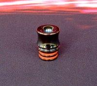【在庫あり★即納可能】KEMURI PRODUCT製 ドリップチップ 510スレッド Curvyシリーズ SS Black plating(ステンレススチール製ブラックメッキ加工)