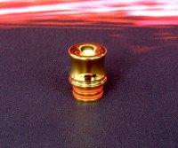 【在庫あり★即納可能】KEMURI PRODUCT製 ドリップチップ 510 Curvyシリーズ Gold(24Kメッキ)