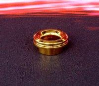 【即納】KEMURI PRODUCT製 810 drip tip ベリーショート Gold(24Kメッキ) テーパータイプ