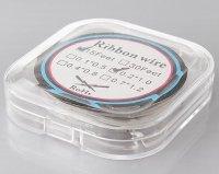 【在庫あり★即納可能】RBA用 ニクロム80 リボン ヒーティングワイヤー   0.2mm×1.0mm 15フィート