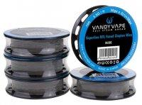 【在庫あり★即納可能】VandyVape Ni80 スーパーファイン MTL フューズド クラプトンワイヤー 10ft 各種