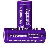 【在庫あり★即納可能】authentic Vapcell INR18500 バッテリー M12(本物)★リチウムマンガン充電池 1200mAh 10A★バップセル フラットトップ★VAPE ベイプ