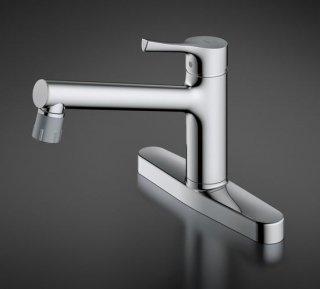 TOTO TKS05313J シングル混合水栓(吐水切り替えタイプ) 台付2穴タイプ 一般地用