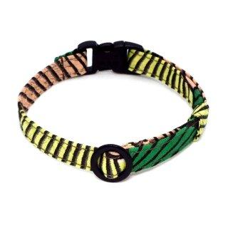 アフリカンバティックの猫首輪  バンブー