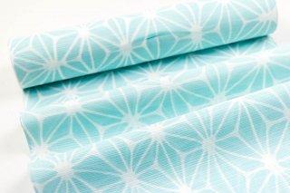 竺仙ゆかた 綿絽地染 麻の葉柄