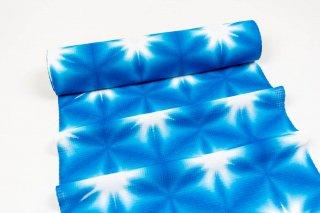 張正 雪花絞り ゆかた ブルー