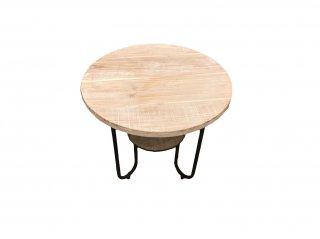 オールドウッド丸テーブル(ホワイト)