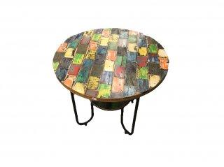 オールドウッド丸テーブル(カラー)