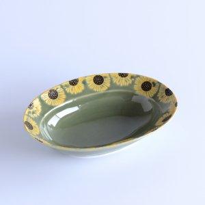 himawari グリーン 楕円鉢