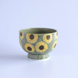 himawari グリーン まる碗