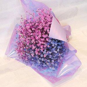 【生花  花束】2色の染めかすみ草ブーケ