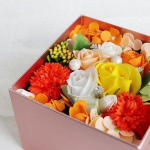 【ソープフラワー:rafulu】フロレゾンフルール|オレンジ
