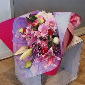 【生花  花束】豪華絢爛♡華やかな花束|ピンク