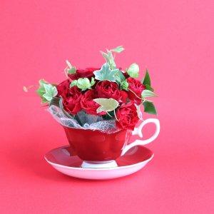 Tea cup bouquet _フランボワーズ【生花】