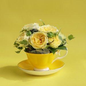 Tea cup bouquet _ミモザ【生花】