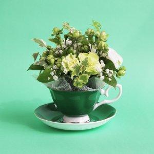 Tea cup bouquet _ミントエクレール【生花】