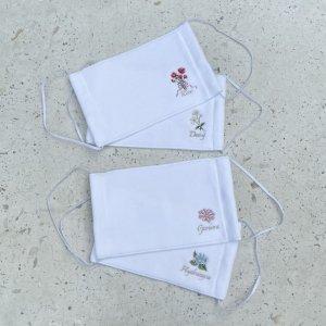 【今治タオル】フラワー刺繍_マスク