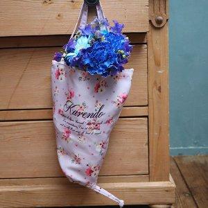 ブーケ花柄フラワーエコバッグ