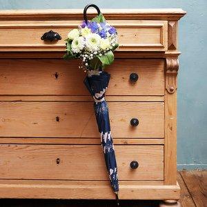 Umbrella Bouquet|ガーベラ柄(ネイビー)【季節のお花】