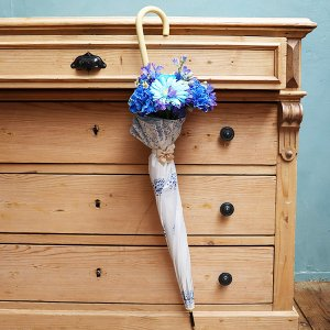 Umbrella Bouquet|かすみ草柄【季節のお花】