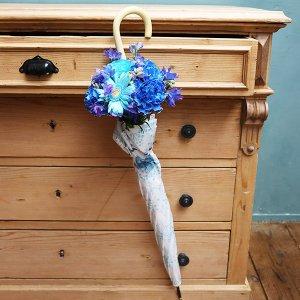 Umbrella Bouquet|かすみ草リボン柄【季節のお花】