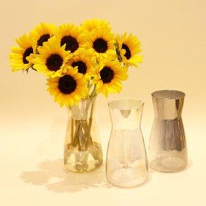 【生花】オーロラ花瓶付き ひまわりブーケ セット