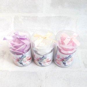 【手洗い石鹸ソープフラワー】シャボンローズ1輪 3個セット ピンク系
