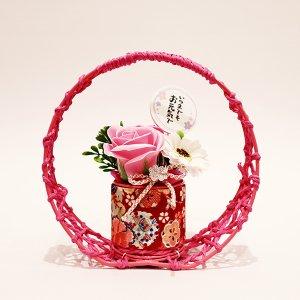 【ソープフラワー:emi】敬老ソープフラワー 和モダン(ピンク)