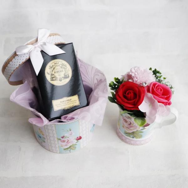 【紅茶〈MARIAGE FRÉRES〉と入浴用ソープフラワー】Flower Relax Set