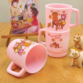 スタッキングプラカップ イスのテーブル ピンク