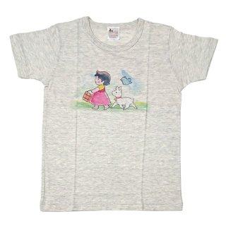 大人半袖Tシャツ まっててごらん柄 オートミール (XSサイズ)
