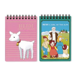 セミB7リングノート 2冊パック グリーン&ピンク