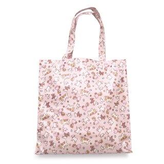 スクウェアバッグ(横型) ちらし柄 ピンク