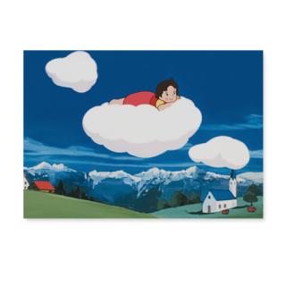 PCH-24 ポストカード のんびり雲の上