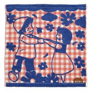 ウォッシュタオル ガーゼパイル 春のダンス柄