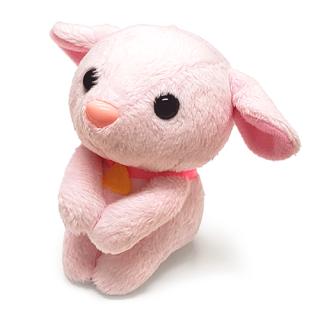 ぬいぐるみ おすわりユキちゃん(ピンク)