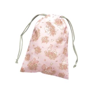 巾着袋 ( S )  ハイジ&ローズ柄 ピンク