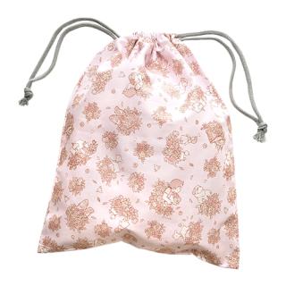巾着袋 ( M )  ハイジ&ローズ柄 ピンク