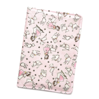 お薬手帳&通帳ケース ユキちゃんと遊ぼう柄 ピンク