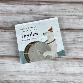 """ブロックメモ """"日下明デザイン"""" rhythm"""