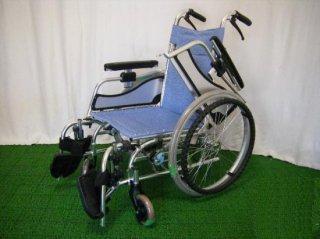 松永製作所 自走式車椅子 MW-SL5B(青) (WCMA216-B)