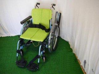 松永製作所 自走式車椅子 REM-1000(緑) (WCMA220-G)