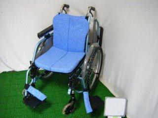 松永製作所 自走式車椅子 REM-1000(青、座幅42) (WCMA220-42)