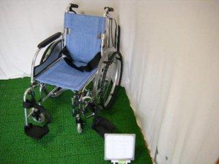 松永製作所 自走式車椅子 MW-SL3 (青・超軽量)(WCMA230-B)