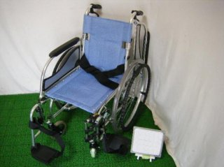 松永製作所 自走式車椅子 MW-SL3 (青・38幅・超軽量)(WCMA230-B38)