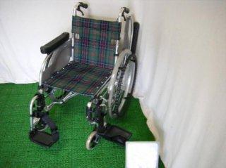 松永製作所 自走式車椅子 AR-501B(緑チェック) (WCMA252G-CHK)